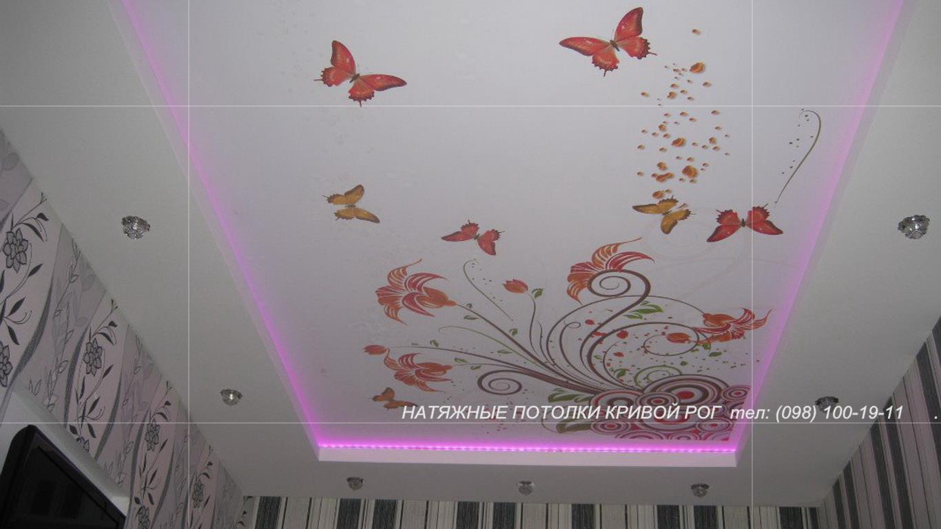 Фотопечать на матовом потолке
