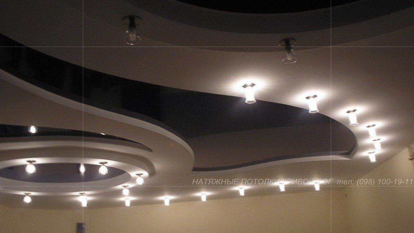 Двухуровневые натяжные потолки в Кривом Роге